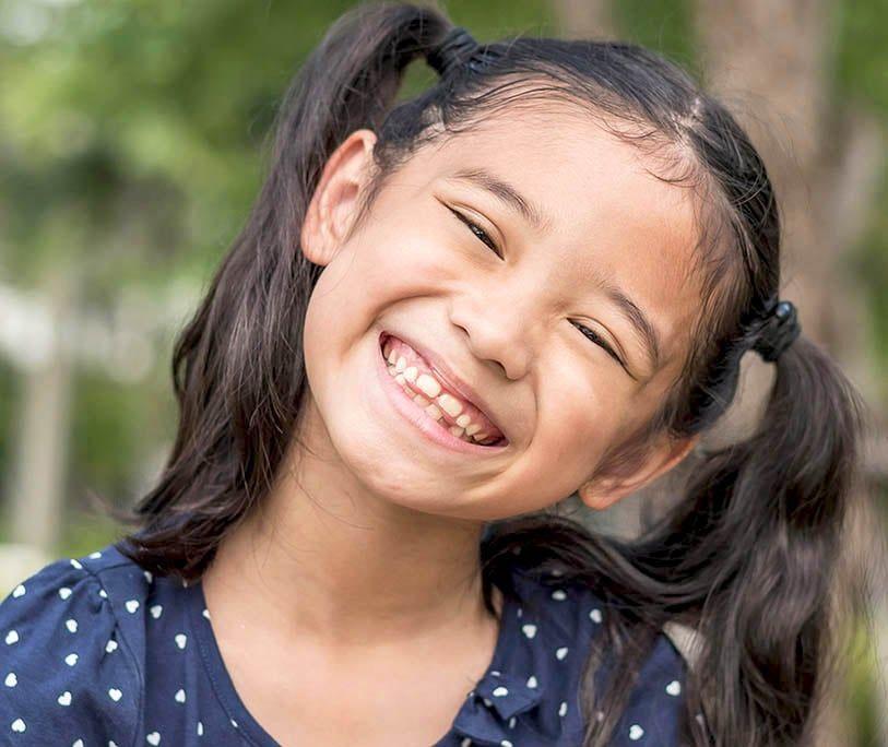 Gaps between childs teeth