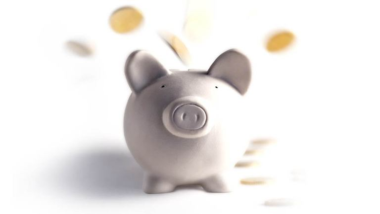Piggy bank representing how affordable single visit crowns are